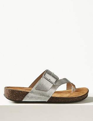 Marks and Spencer Wide Fit Leather Flip-flops Sandals