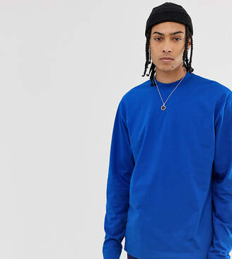 Collusion COLLUSION long sleeve t-shirt in cobalt blue