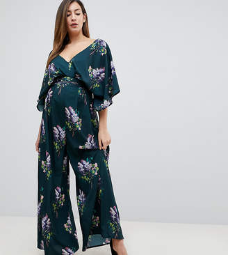 Asos (エイソス) - Asos Maternity ASOS Maternity Jumpsuit with Kimono Sleeve and Wide Leg in Print