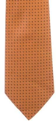 Hermes Italicized H Silk Tie