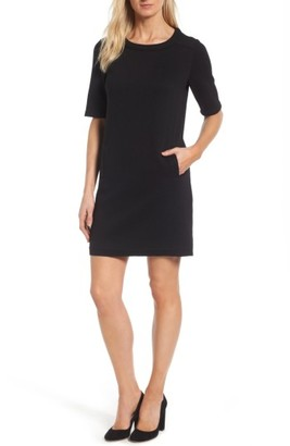 Women's Halogen Textured Elbow Sleeve Tunic Dress $79 thestylecure.com