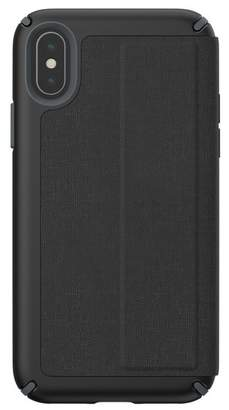 Speck Black\u002FGrey iPhone XS\u002FX Presidio Folio Case