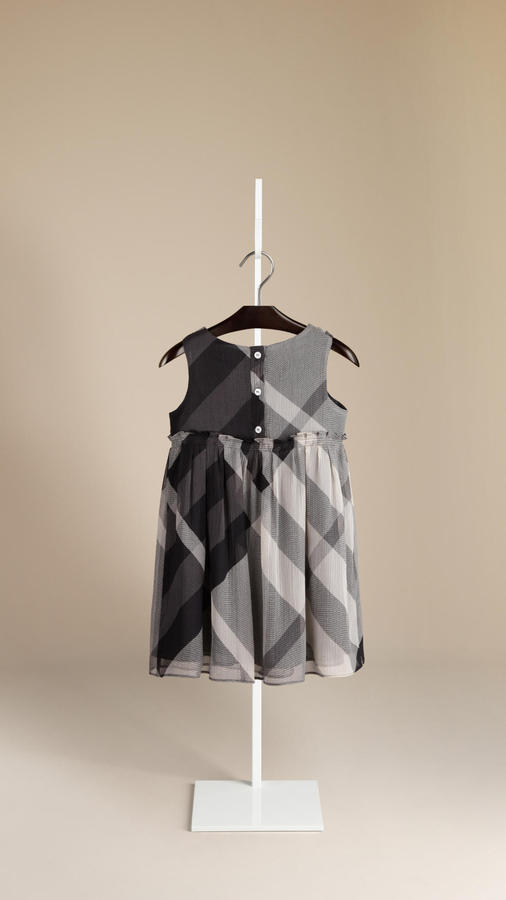 Burberry Beat Check Silk Dress