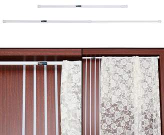At Ashata Extendable Spring Telescopic Shower Bathroom Window Curtain Rail Loaded Pole Rod 55 90cm