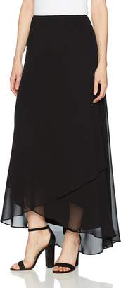 Alex Evenings Women's Long Chiffon Tulip Hem Skirt