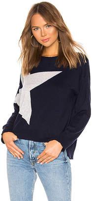 Sundry Star + Heart Cashmere Blend Crew Neck Sweater
