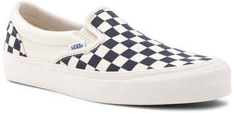 Vans OG Classic Canvas Checkerboard Slip On LX
