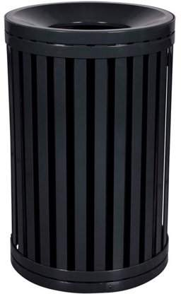 Ex-Cell Kaiser LLC Ex-Cell Kaiser SCTP-40 ND BLK South Hampton 45 Gallon Streetscape Receptacle, Black