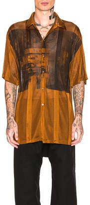 Raf Simons Short Sleeve Net Jersey Shirt