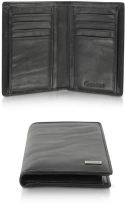 Gherardini Pleated Leather Men's Vertical Wallet