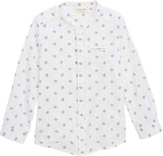 Me & Henry Polka Dot Long Sleeve Woven Shirt