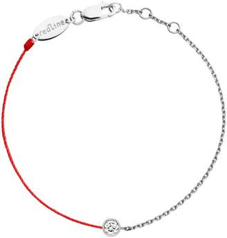 Redline Pure Diamond Chain and Red Bracelet - White Gold