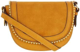 Accessorize Studded Saddle Bag - Ochre