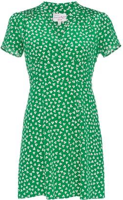 HVN Morgan floral print mini dress