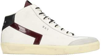 Leather Crown High Skt White Leather Sneakers