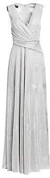 Talbot Runhof Women's Diamond Voile Crisscross Front Gown