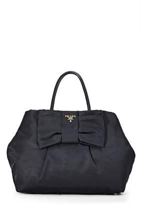 874d8e2b6a4c Prada Black Tessuto Bow Top Handle Bag