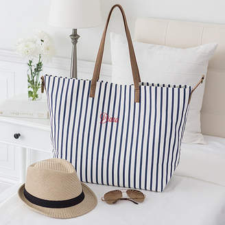 Cathy's Concepts CATHYS CONCEPTS Personalized Striped Overnight Tote
