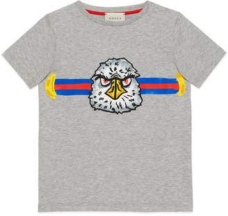 Gucci Children's T-shirt with eagle print