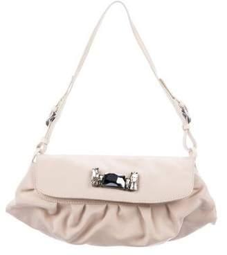 Jimmy Choo Pleated Satin Mini Bag