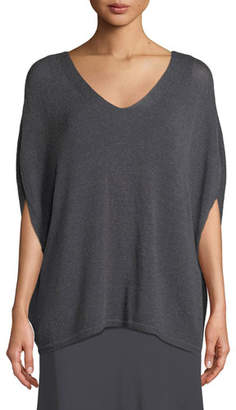 Nic+Zoe Lived In Knit V-Neck Top, Petite