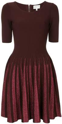 Milly flared fitted dress