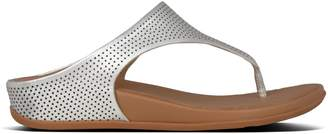 FitFlop Perforated Leather Thong Sandals