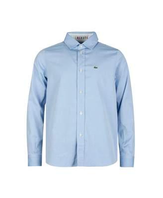 Lacoste Classic Logo Oxford Shirt Colour: BLUE, Size: Age 4