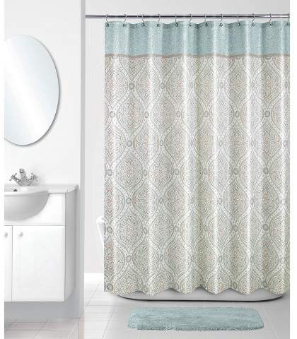 Allure Home Creation Shower Curtain Allure Home Creation Shapes Multi-colored