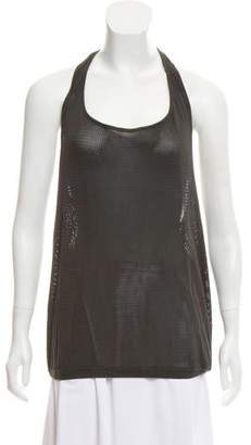 Dries Van Noten Micro-Mesh Halter Top