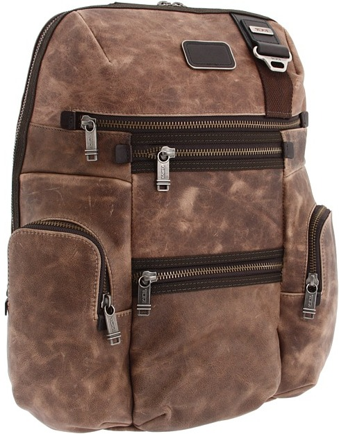 Tumi Alpha Bravo - Knox Backpack Leather (Brown) - Bags and Luggage
