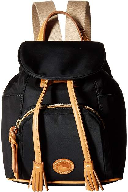 Dooney & Bourke Miramar Small Murphy Backpack Backpack Bags - NAVY/BTRSCTCH TRIM - STYLE