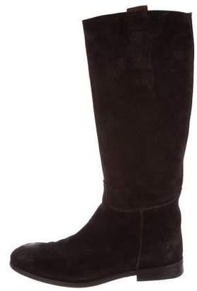 Prada Distressed Tall Boots