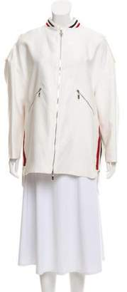 Moncler Gamme Rouge Stripe-Accented Bomber Jacket