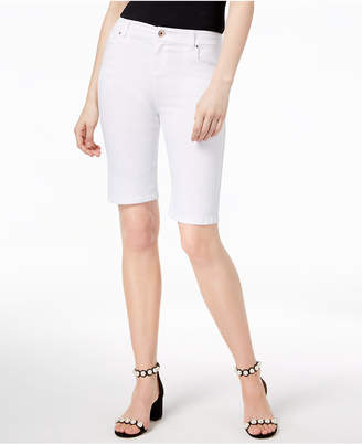 INC International Concepts I.N.C. Curvy-Fit Rhinestone-Rivet Bermuda Shorts, Created for Macy's