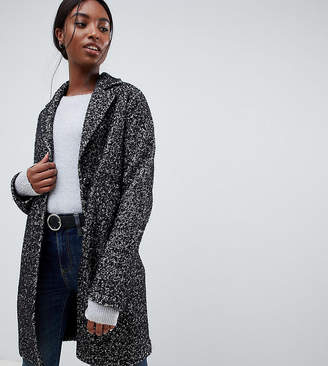 Asos Tall DESIGN Tall cocoon coat in texture