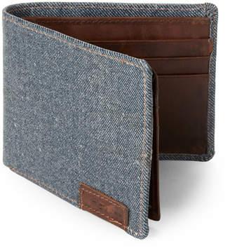 Joe's Jeans Denim Leather Passcase Wallet