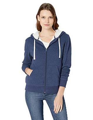 Amazon Essentials Women's Sherpa-Lined Fleece Full-Zip Hooded Jacket