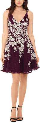 Xscape Evenings Lace-Embroidered Fit & Flare Dress