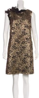 Lanvin Metallic Brocade Dress