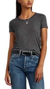 Barneys New York Women's Rib-Knit Short-Sleeve T-Shirt - Charcoal