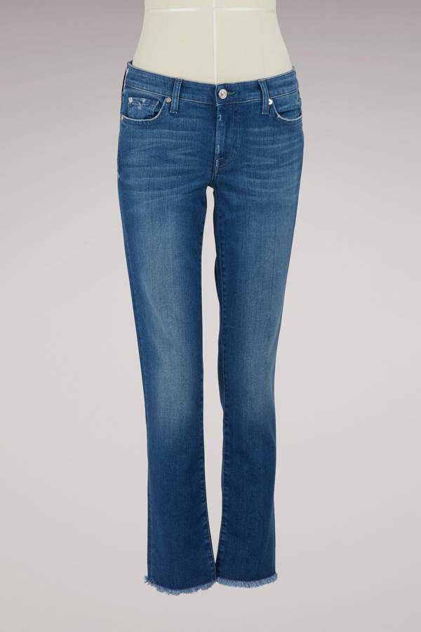 7 For All Mankind Relaxed Skinny Slim Illusion Pacific jeans