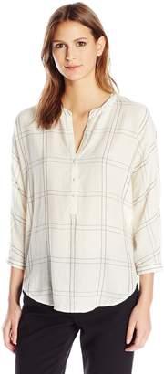 Lucky Brand Women's White Plaid Shirt