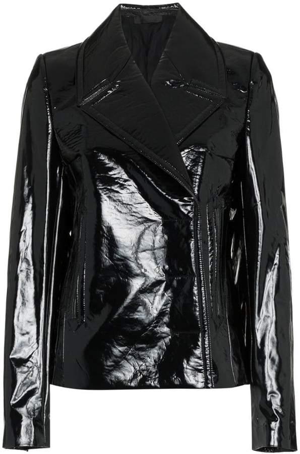vinyl blazer jacket