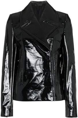 Haider Ackermann vinyl blazer jacket