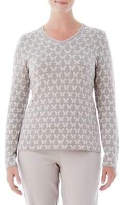 Olsen V-Neck Butterfly Sweater