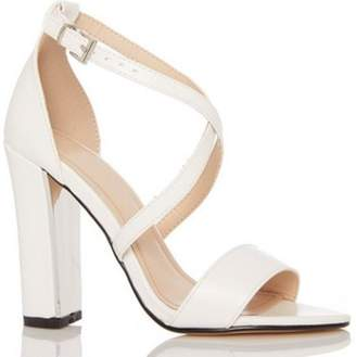 Dorothy Perkins Womens *Quiz White Cross Strap Sandals
