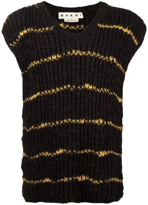 Marni stripes knit vest