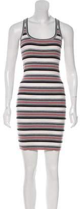 Alexander Wang Merino Wool Bodycon Knee-Length Sleeveless Dress