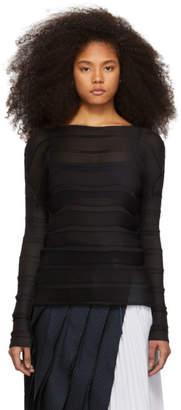 Issey Miyake Black Stair Sweater